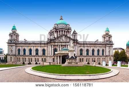 Belfast City Hall and Donegall Square Northern Ireland, UK