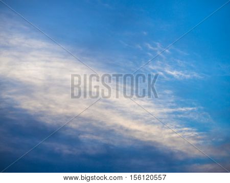 clear blue sky covered with white clouds