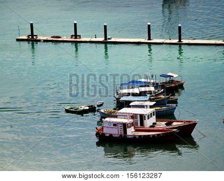 Porto do Comércio - foto tirada da cidade alta na cidade de Salvador na Bahia