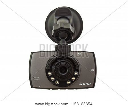 Car DVR Front camera car recorder on white background