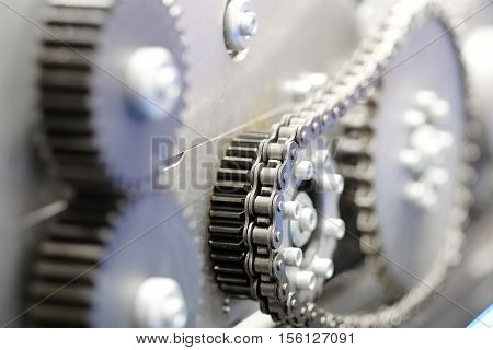 The image of chain driven transmission