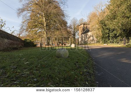An image of a rural church situated in Newton Harcourt Leicestershire England UK