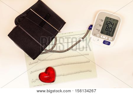 Cardiogram / Health and Medical / ECG heart