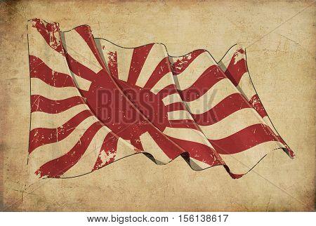 Japan Naval Ensign Historic Flag Background Wallpaper.