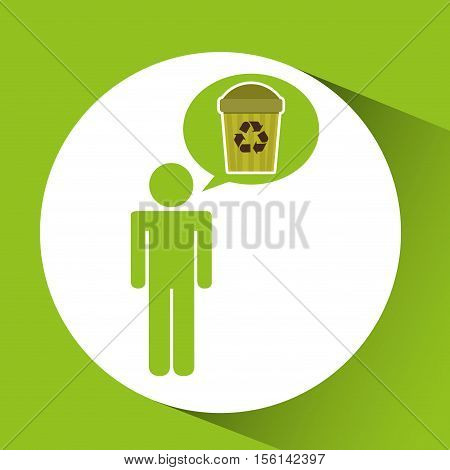 symbol recycle trashcan design vector illustration eps 10