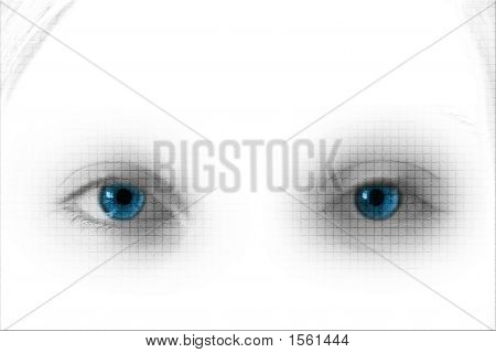 Blue Lattice Eyes