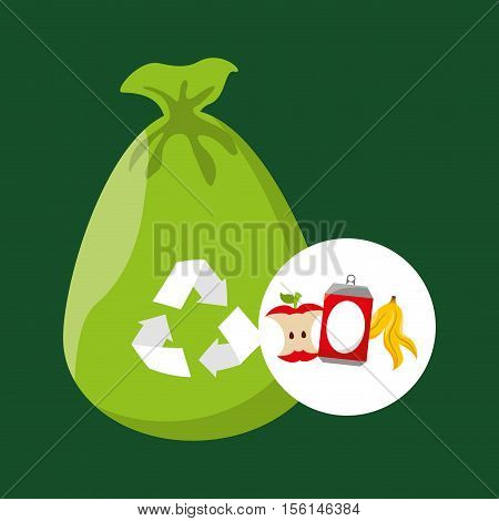concept recycling process trash icond design vector illustration eps 10