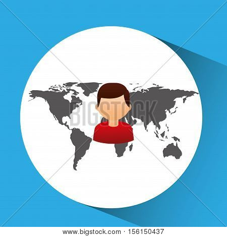 concept globe avatar male social media vector illustration eps 10