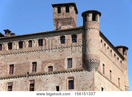 medieval castle at Piedmont, unesco world heritage, Italy