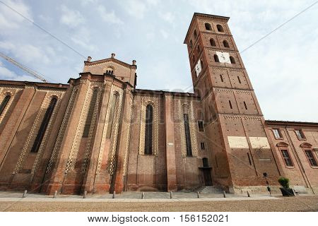 Asti cathedral, medieval landmark in Piedmont, Italy