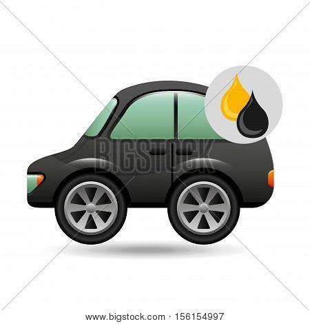 coupe car gasoline oil icon vector illustration eps 10