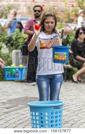 Traditional Competition With Yoke And 2 Buckets In Plovdiv, Bulgaria