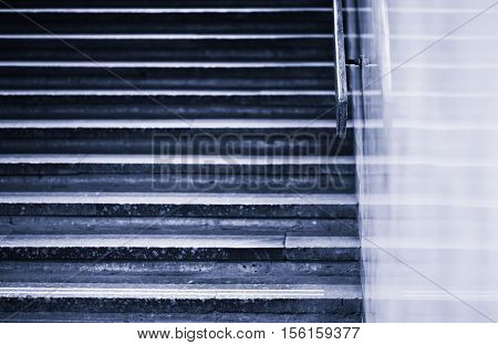 Vintage blueish horizontal jaggies stairs backdrop hd