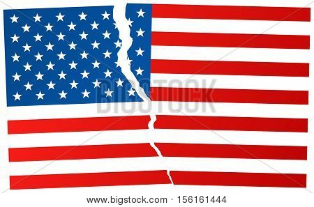 The Disintegration Of The United States After Election In Usa