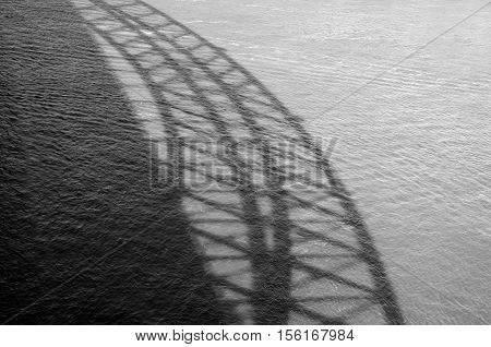 Shadow Of Sydney Harbour Bridge
