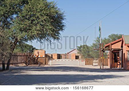 Mata Mata, border crossing between Namibia and South Africa