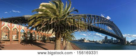 Panoramic View Of Sydney Harbour Bridge Sydney New South Wales Australia