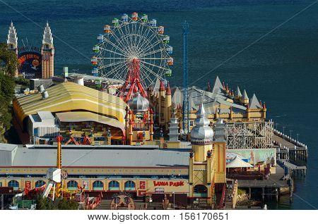 Aerial View Of Sydney Luna Park New South Wales Australia