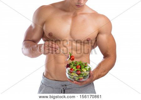 Healthy Eating Food Salad Bodybuilding Bodybuilder Body Builder Building Muscles Muscular Young Man
