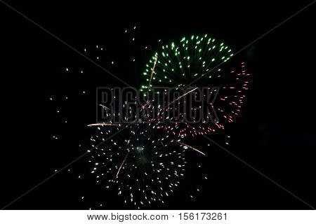 Photography of a brightly colorful firework outdoor