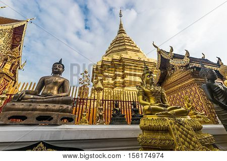 Wat Phra That Doi Suthep is tourist attraction of Chiang Mai, Thailand.Asia.