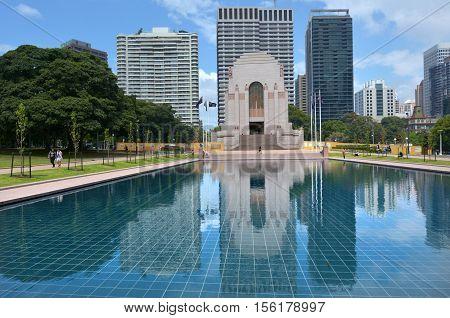 Anzac War Memorial Hyde Park Sydney New South Wales Australia