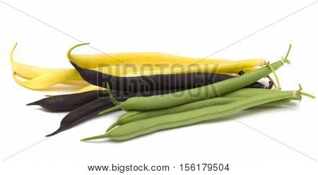 Fresh string bean on a white background.