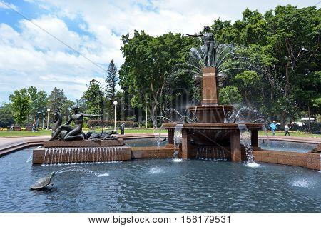 Hyde Park Sydney New South Wales Australia