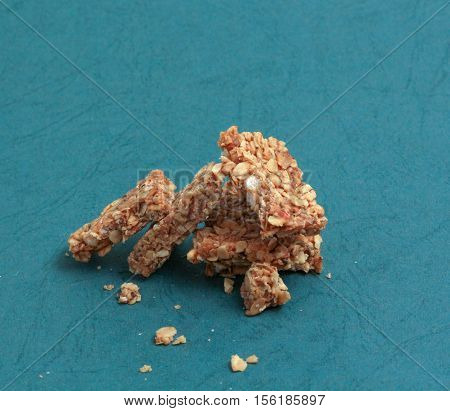 picture of a Granola bar on white background