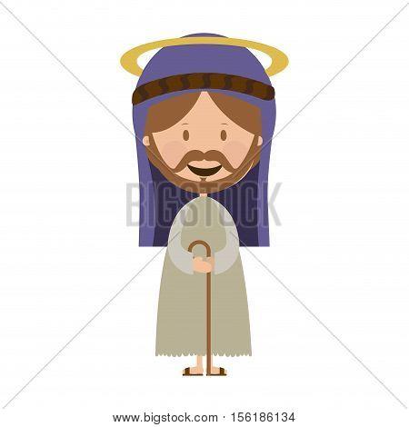 st joseph holy family icon image vector illustration design