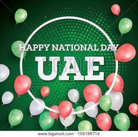 Happy National Day UAE. Vector Illustration. Celebration December. 2 in United Arab Emirates.