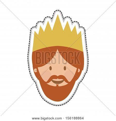 gaspar magi or wise men icon image vector illustration design