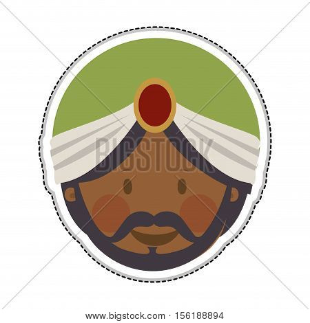 balthazar magi or wise men icon image vector illustration design