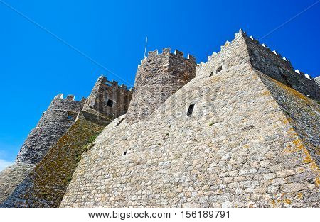 Greece Dodecanese, Patmos the fortress of the Agios Joannis Theologos Monastry