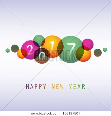 Best Wishes - Colorful Abstract Modern Style Happy New Year Greeting Card, Cover or Background, Creative Design Template - 2017