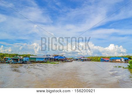 The nature of the people living in the Tonle Sap, Cambodia.