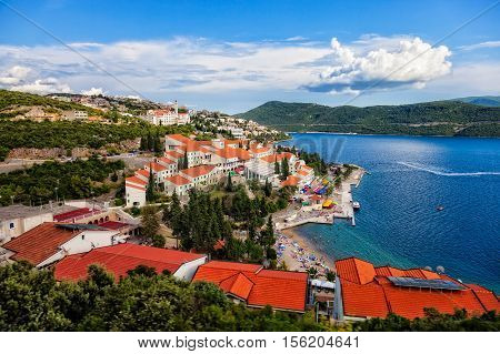 The tourist resort of Neum Bosnia and Herzegovina.