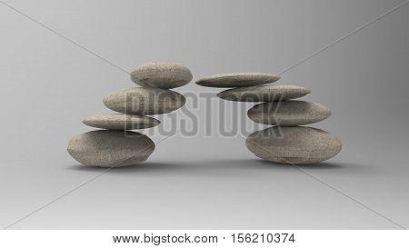 3D Rendering Spa Stones Treatment Scene, Zen Link Concepts