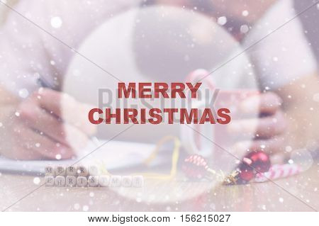 Christmas bustle letter writing with regards to all the family and friends
