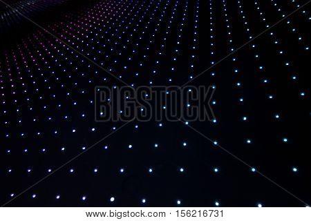Calorful Led Light on black background. Panel
