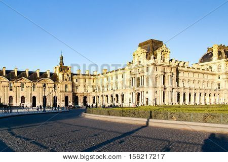 The Carrousel square and around, in this place is situated the palace of Louvre Paris, France