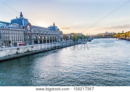 D'Orsay Museum. D'Orsay - a museum on left bank of Seine, it is housed in former Gare d'Orsay