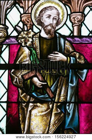 Saint Joseph - Stained Glass