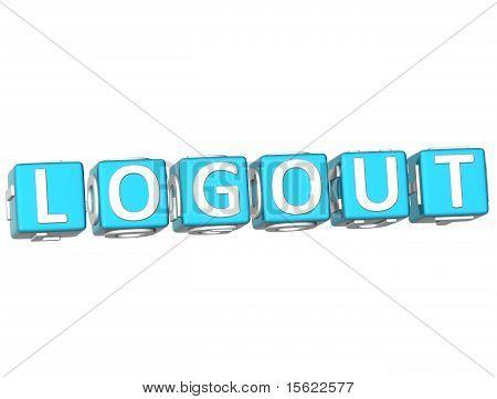 Logout Cube Text
