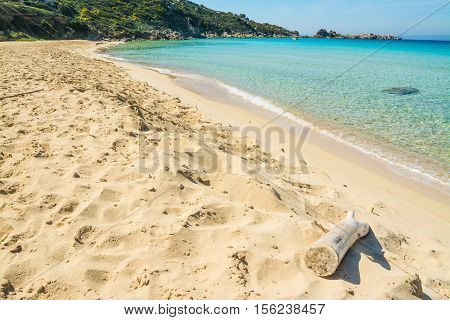 rena bianca shoreline on a clear day Sardinia