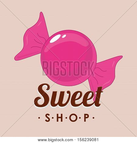 sweet candy shop icon vector illustration graphic design