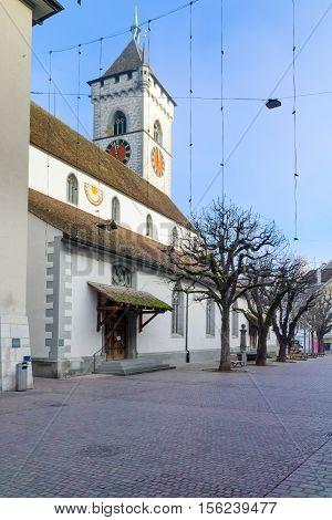 The St Johann Church In Schaffhausen