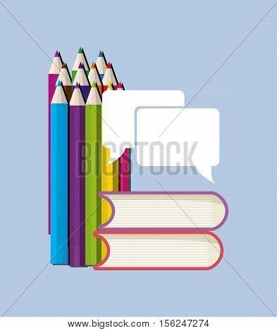 Education books pencils icon vector illustration graphic design