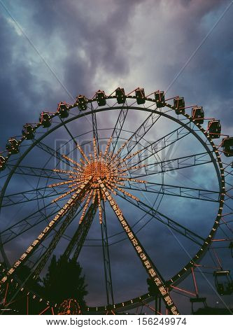 Ferris wheel in Odessa, Ukraine.  Entertaiment, fun