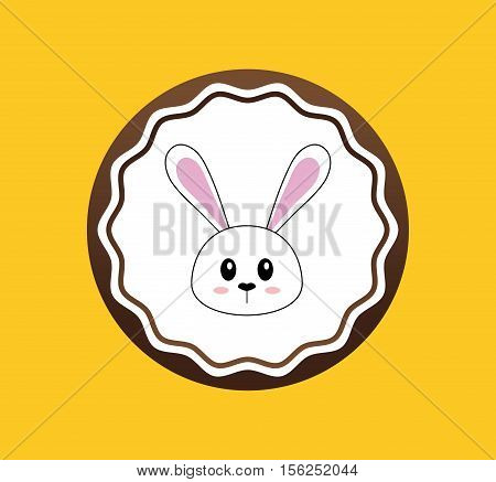 Happy easter card icon vector illustration graphic design